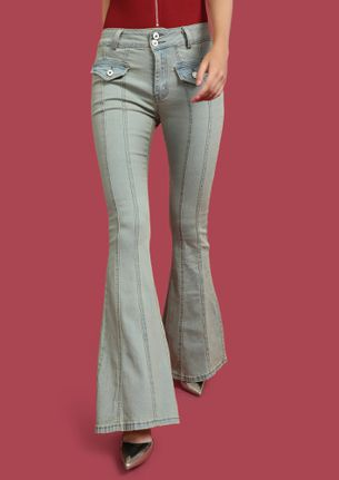 STRONG 70'S FADED BLUE FLARED JEANS