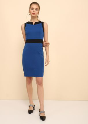 WORK IN STYLE BLUE BODYCON DRESS