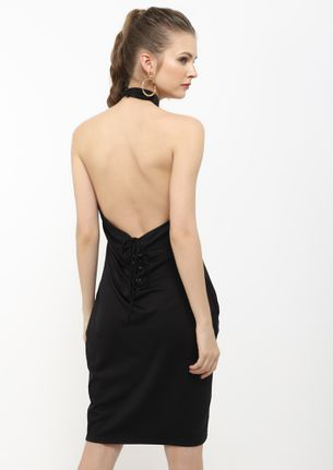 THERE SHE GOES BLACK TUNIC DRESS