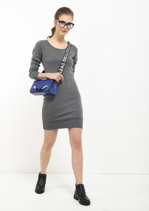 Before Time Grey Bodycon Dress
