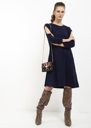 SUMMER MOOD ON NAVY SHIFT DRESS