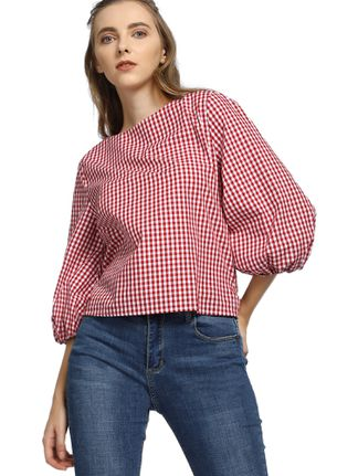 CHIC FOR THE SEASON RED STRIPED TOP