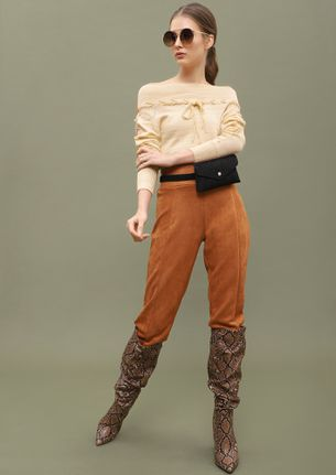 HOT CHOCOLATE AND COLD NIGHTS  BEIGE CROPPED JUMPER