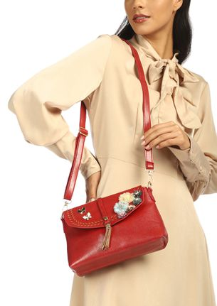 FULL OF PLAYFULNESS RED SLING BAG