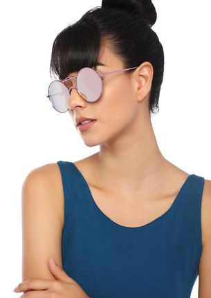 GO ALL CIRCLE PINK ROUND SUNGLASSES