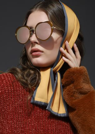 DON'T OVER THINK PINK RETRO SUNGLASSES