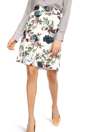 POWER OF MY FLOWERS WHITE A-LINE SKIRT