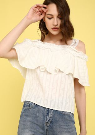 LACY SUNDAY'S COLD-SHOULDER TOP