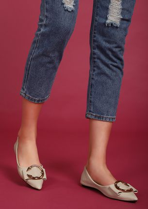 THE CLASSIC BOW BEIGE BALLET FLATS