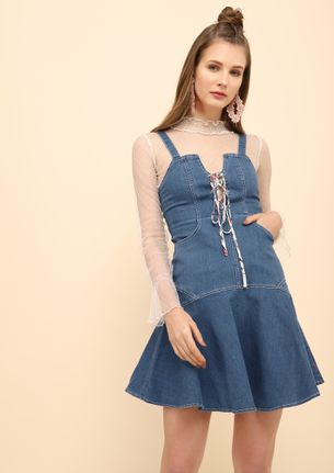 I GOT OPTIONS BLUE DENIM DRESS