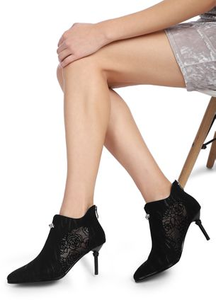 NOT YOUR BASIC BLACK ANKLE BOOTS