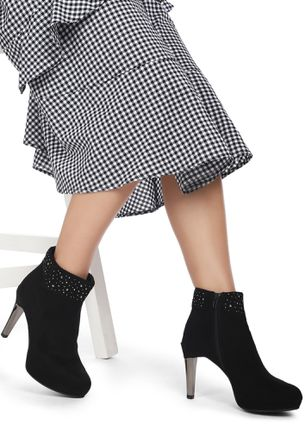 END NOTE BLACK ANKLE BOOTS