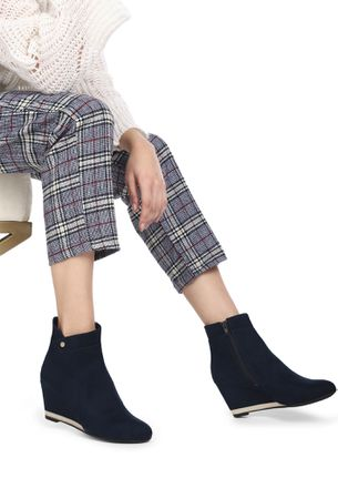 UNDER THE NIGHT SKY BLUE ANKLE BOOTS