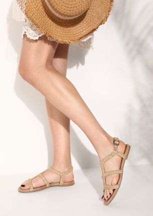 PLAY WITH MY BRAIDS BEIGE FLATS