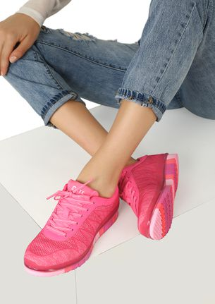 SPORTY AND PROUD PINK TRAINERS