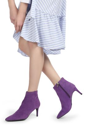 BOLD STEPS PURPLE ANKLE BOOTS