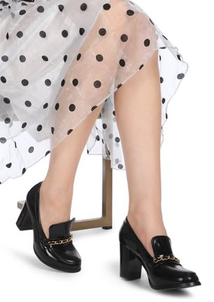 ONLY TALKING BUSINESS BLACK HEELED SHOES