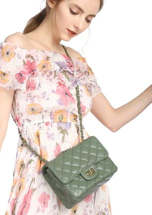 ALL THINGS SWEET GREEN SLING BAG