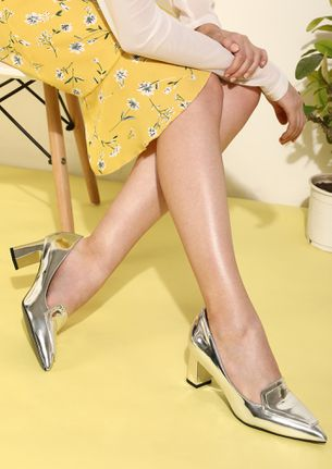 ONE STEP AT A TIME SILVER HEELED SHOES