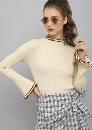 BASIC BEHAVIOR  BEIGE JUMPER