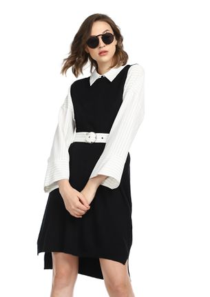 COMFORT OVER ANYTHING BLACK SHIFT DRESS