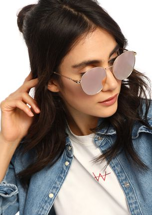 SMART CHOICES PINK RETRO SUNGLASSES