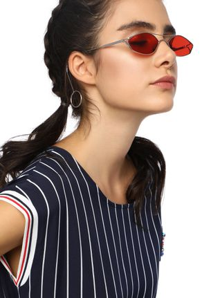 OH SO MINIMALISTIC RED RETRO SUNGLASSES