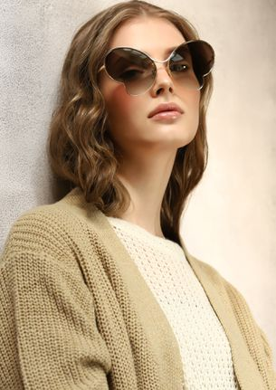 I'M A BUTTERFLY BROWN RETRO SUNGLASSES