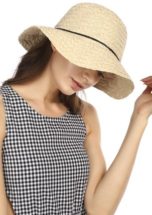 ON THE SEA SHORE BEIGE STRAW HAT