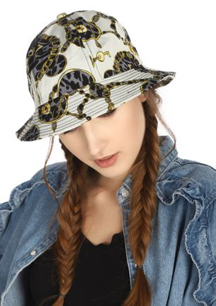 AFTER-BRUNCH CITY STOLL WHITE BUCKET HAT