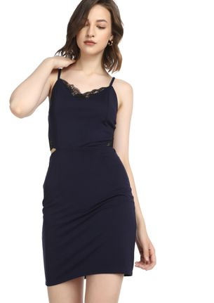 DRESSING GAME ON NAVY BODYCON DRESS