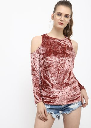 COLDER THAN YOUR VIBES DUSTY PINK TOP
