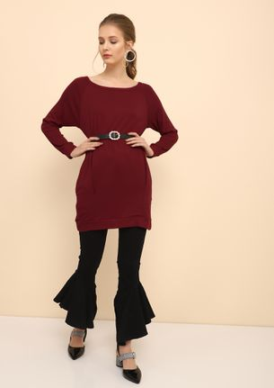 ALWAYS RELAXING RED TUNIC TOP