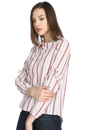 ALMOST LIKE BASIC RED STRIPED BLOUSE