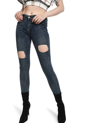 PLAY UP-FRONT BLUE DISTRESS JEANS
