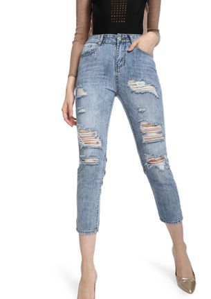 NEVER BE LATE LIGHT BLUE CROPPED JEANS