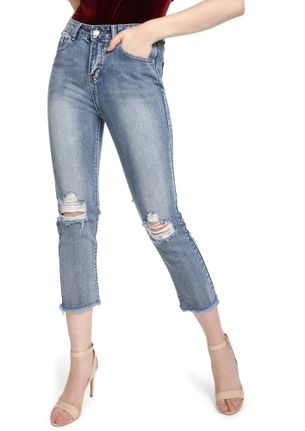 NEW BEGINIGS LIGHT BLUE CROPPED JEANS