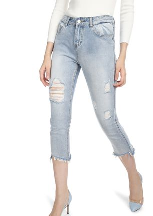 ALL ABOUT MY LIFE LIGHT BLUE CROPPED JEANS