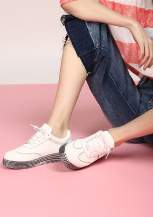 COOLLER THAN YOU THINK WHITE CASUAL SHOES