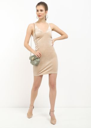 CRY ME A RIVER BEIGE TUNIC DRESS