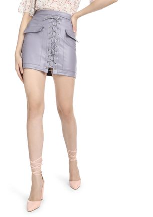YOU JUST NEED ATTENTION GREY MINI SKIRT