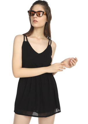 UP FOR QUICK BITES BLACK TUNIC DRESS