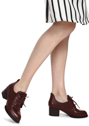 HIGH VOLTAGE MAROON HEELED SHOES