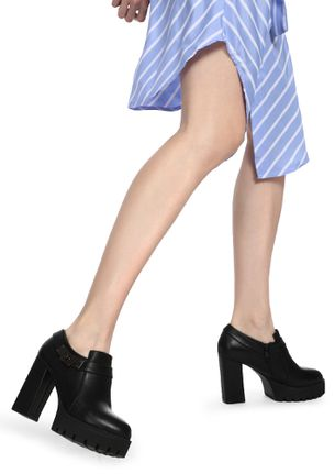 OFFICE TO HAPPY HOURS BLACK ANKLE BOOTS