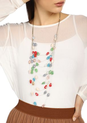 GOSS BABE GEM OF A PERSON MULTICOLOR NECKLACE
