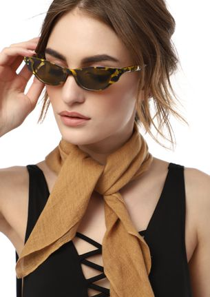 EXTRA CUT BROWN CATEYE SUNGLASSES