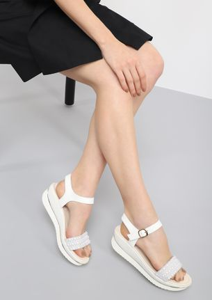 SNEAK OUT WHITE WEDGES