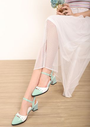 WAITING FOR FRIDAY PASTEL BLUE PUMPS