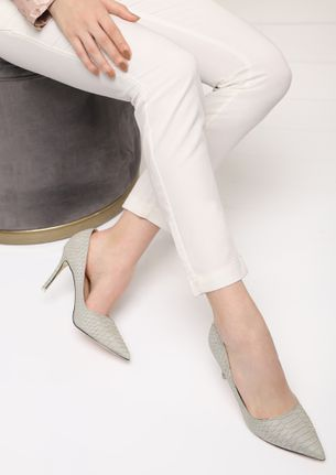 IT'S TOO COMPLICATED GREY PUMPS
