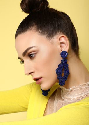 GOSS BABE PRETTY THINGS OF MINE BLUE EARRINGS